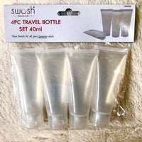 Travel Containers Squeeze Tubes 4pk