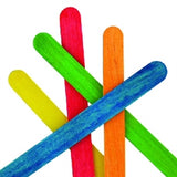 Wooden Icy Pole Sticks Coloured 100pcs