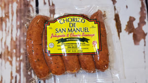 San Manuel Jalapeño and Cheese Sausage