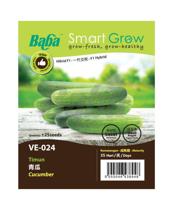 Baba Smart Grow Seed: VE-024 F1 Star-8 Cucumber