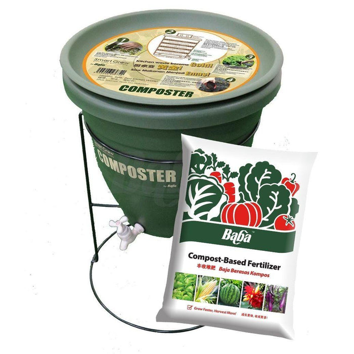 Baba DIY Home Compost (30L) Package - Free Compost Base (7L)