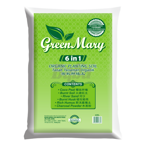 Baba Green Mary 6 in 1 Planting Soil  28L
