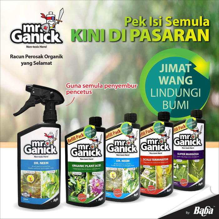 Mr Ganick Organic Plant Acid  Refill Pack Ready to Use 500ML
