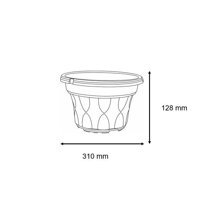 Baba SC-310 Biodegradable Flower Pot-Flower Pot-Baba E Shop
