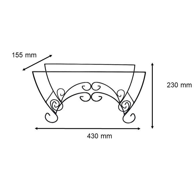 WT - 53 Planter Box Iron Stand (suitable for 509 & 529)-Gadget-Baba E Shop