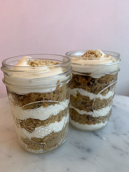 2 VEGAN Carrot Cake Cups