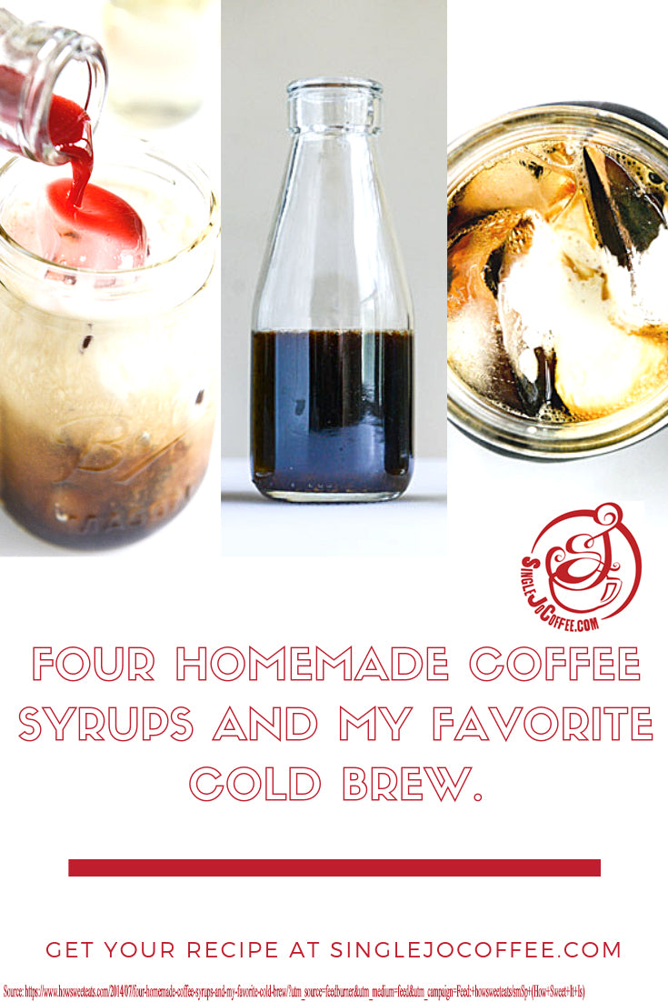 Colorful Coffee (Four Flavored Syrups and a Coffee Brew Recipe)