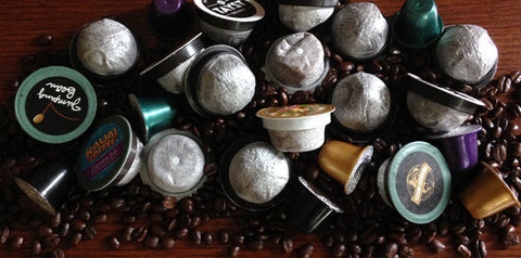 various kinds of coffee pods