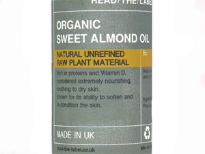SWEET ALMOND COLD PRESSED ORGANIC 100ml