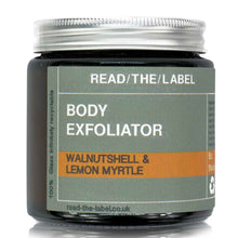 Load image into Gallery viewer, ORGANIC WALNUT AND LEMON MYRTLE BODY SCRUB 100g