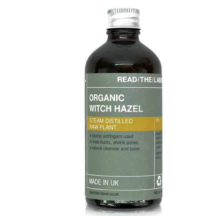 witch hazel organic toner water in 100ml glass jar