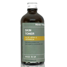 Load image into Gallery viewer, FACIAL TONER 1#: ROSE GERANIUM & ALOE VERA 100ml