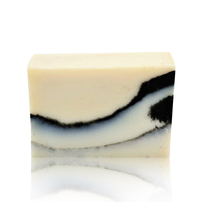 soap bar white and black stripes patchouli