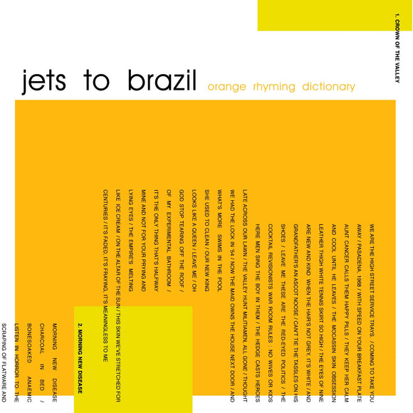 JETS TO BRAZIL / ORANGE RHYMING DICTIONARY