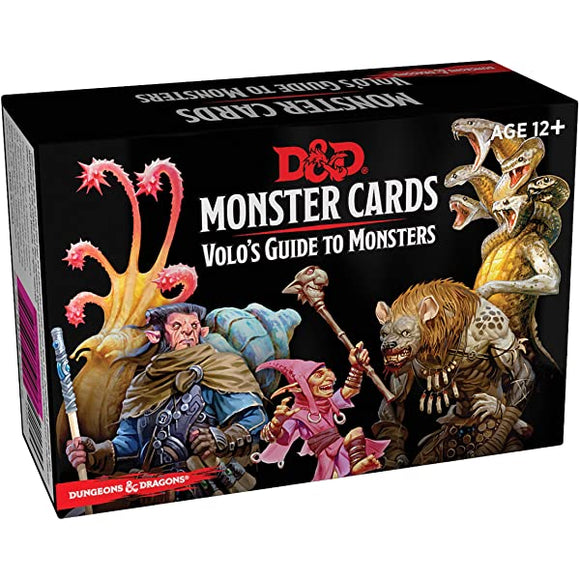 D&D MONSTER CARDS VOLOS GUIDE TO MONSTERS
