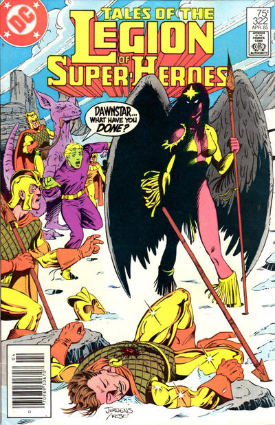 TALES OF THE LEGION OF SUPER HEROES #322 (NEWSSTAND)
