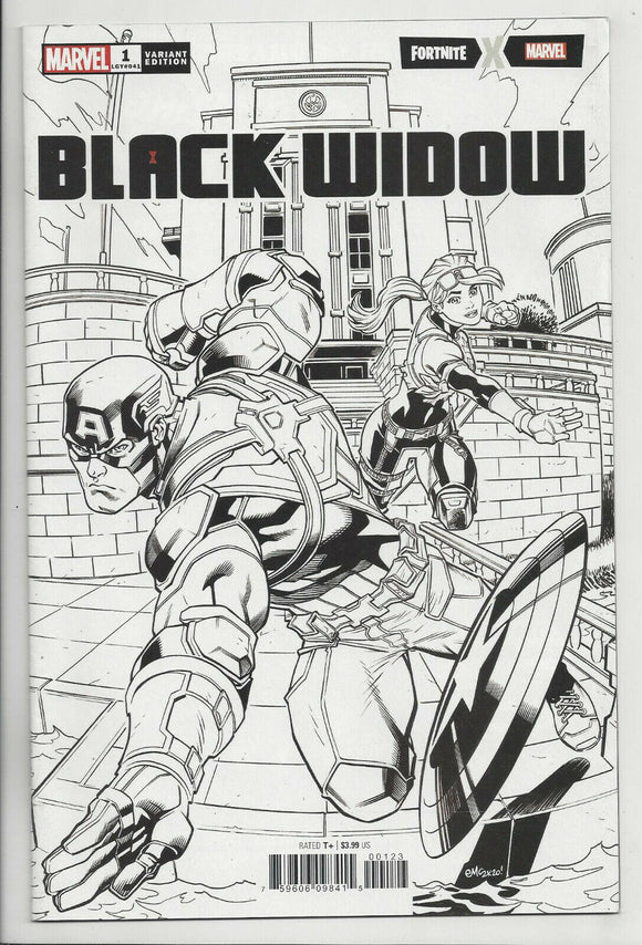 BLACK WIDOW #1 SURPRISE McGUINNESS FORTNITE B/W VARIANT