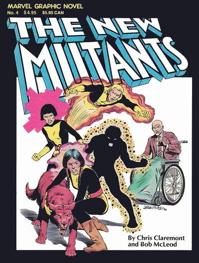 MARVEL GRAPHIC NOVEL #04 THE NEW MUTANTS (6TH PRINTING)