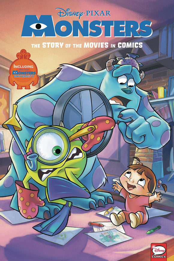 DISNEY PIXAR MONSTERS INC & UNIVERSITY MOVIE IN COMICS HC (R