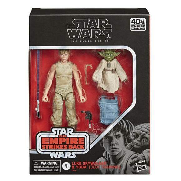 STAR WARS BLACK SERIES LUKE SKYWALKER & YODA (JEDI TRAINING) FIGURES