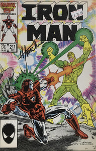 IRON MAN #211 (SIGNED BY HOWARD MACKIE)