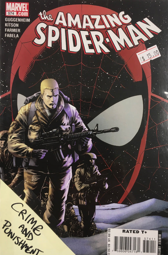 AMAZING SPIDER MAN #574-577 CRIME AND PUNISHER BUNDLE