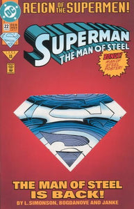 SUPERMAN THE MAN OF STEEL #22 COLLECTOR'S EDITION