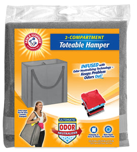 Arm & Hammer Two-Section Toteable Hamper
