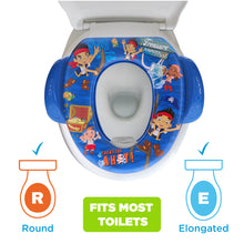 Load image into Gallery viewer, Disney Jake & the Neverland Pirates Soft Potty Seat (MADE IN USA) Treasure Ahoy