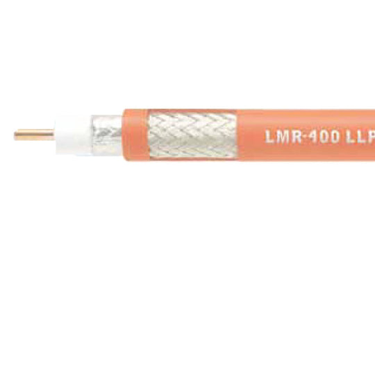 "Times Microwave Plenum-rated 3/8"" LMR 400 Series Coaxial Cable"
