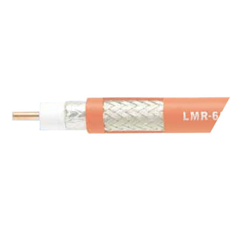 "Times Microwave Plenum-rated 1/2"" LMR 600 Series Coaxial Cable"
