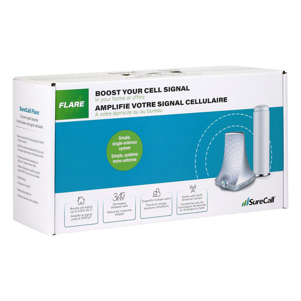 SureCall Flare Cell Signal Booster for 1-2 Room Coverage