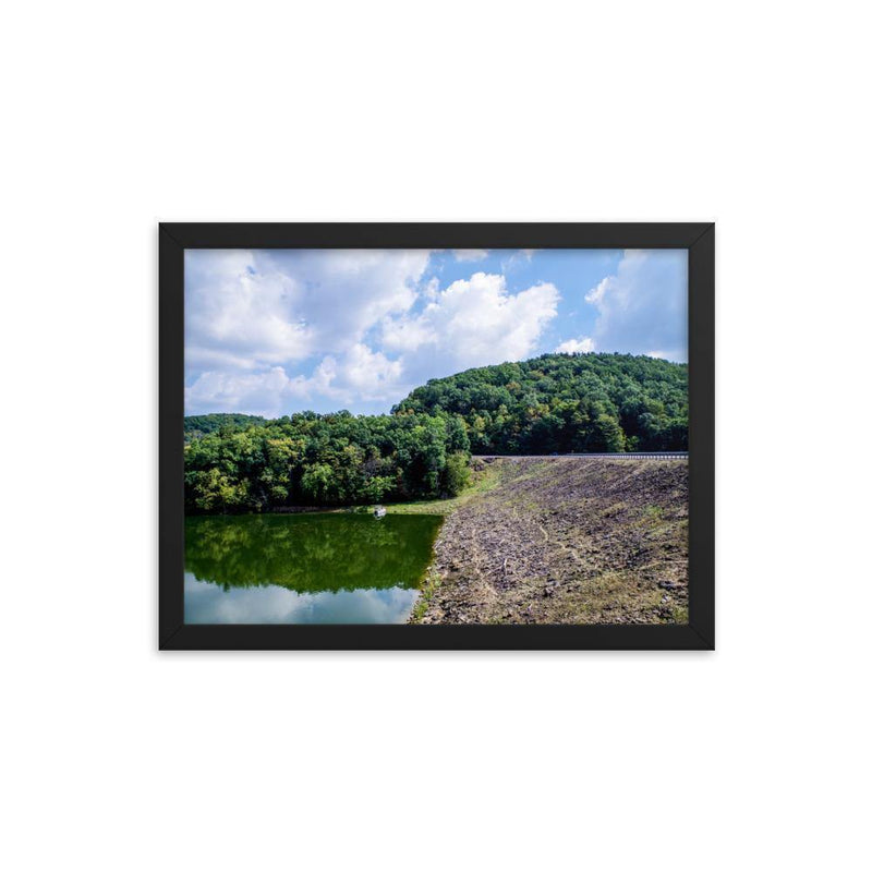 Forest Between Earth Lake And Sky Framed Art Print - Artouchmedia