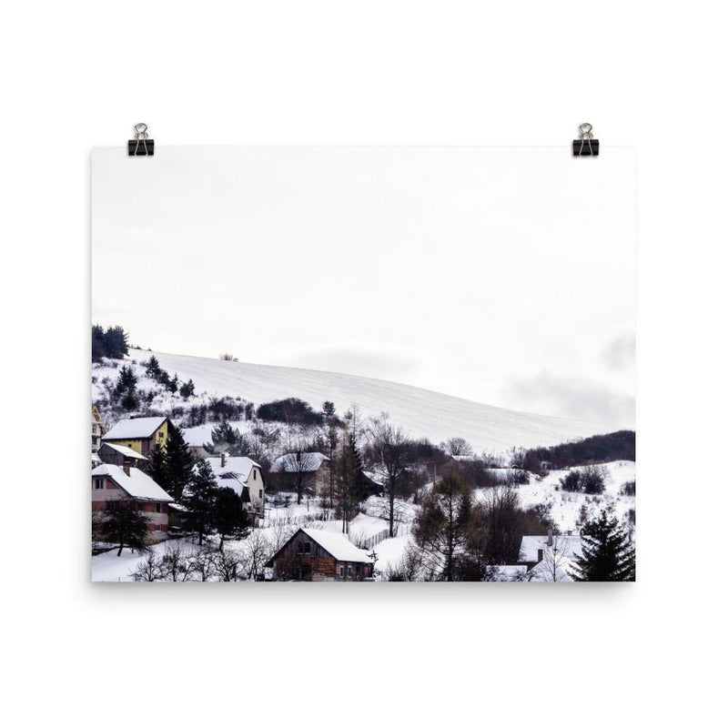 Little Village In The Valley Luster Art Print - Artouchmedia