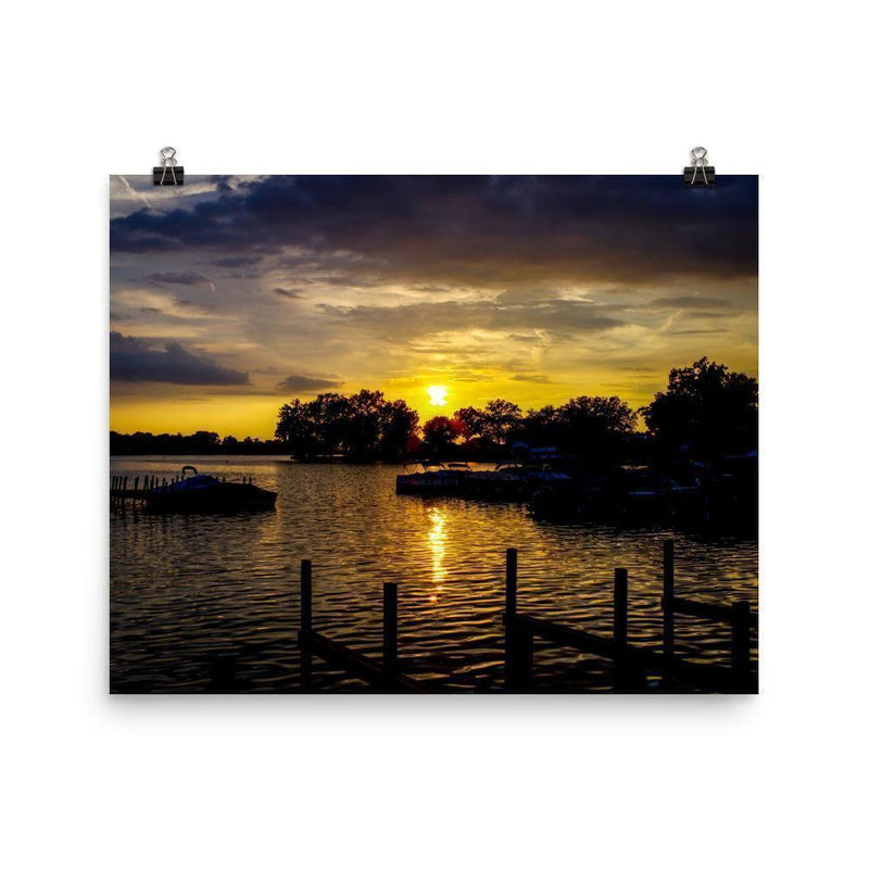 Buckeye Lake Sunset Poster - Artouchmedia