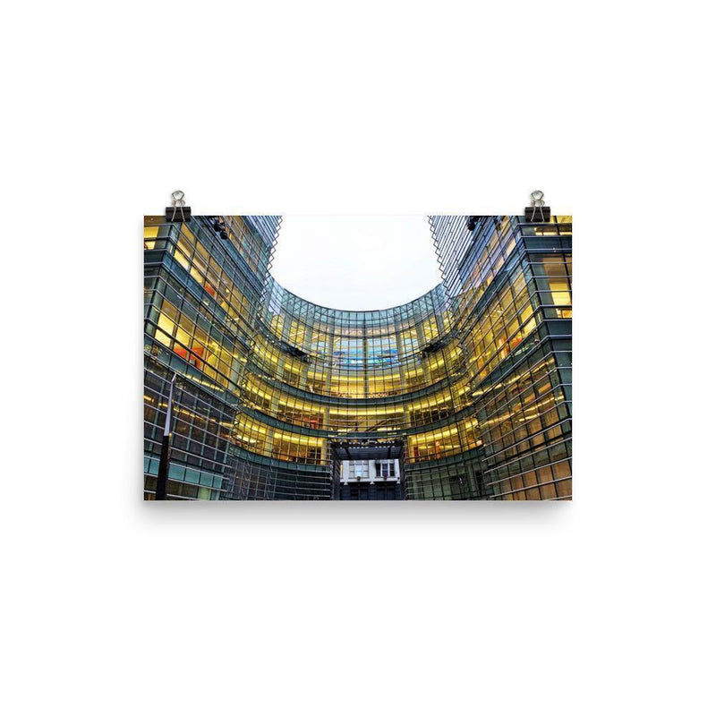 Curvy Building In Downtown Poster - Artouchmedia