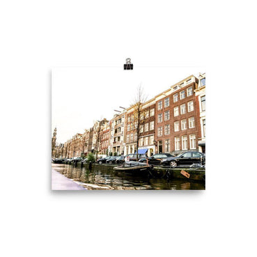 Canal View From Amsterdam Poster