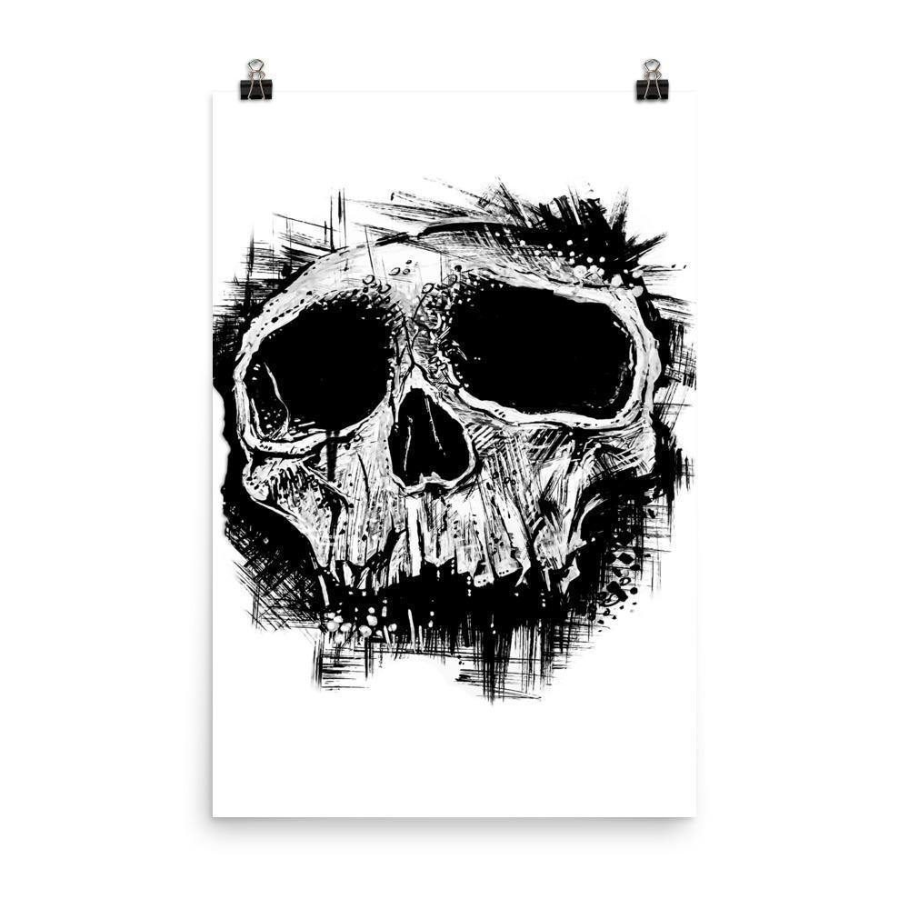 Comics Skull Original Art Photo Print - Artouchmedia