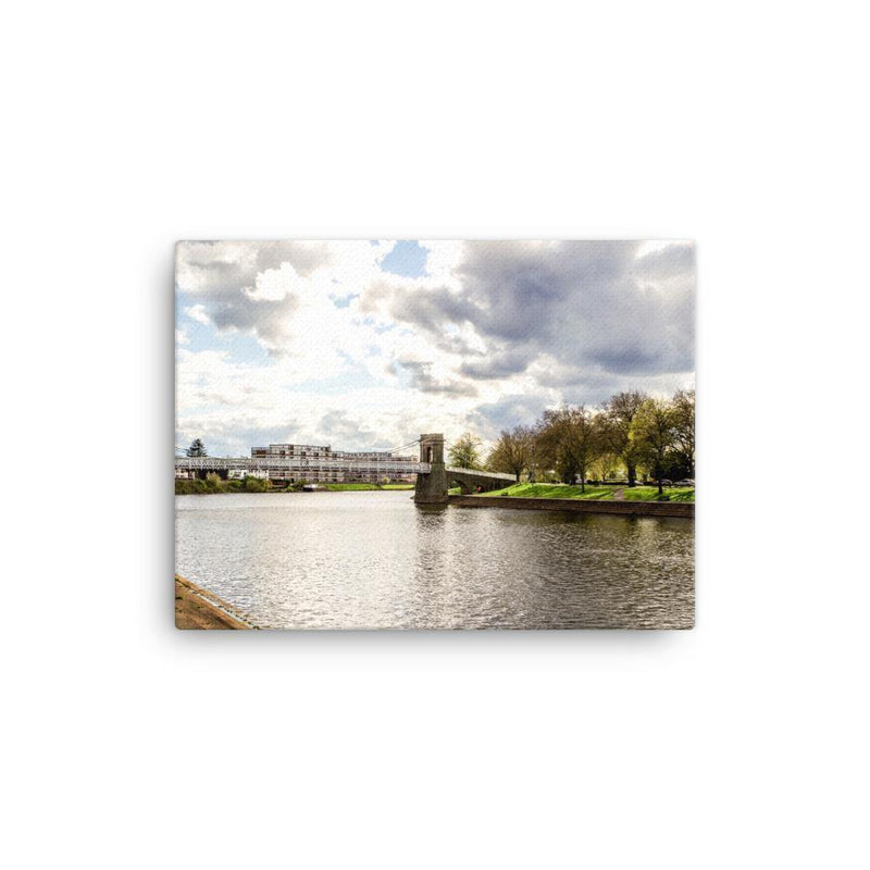 Bridge Across The Nottingham River Canvas Art Print - Artouchmedia