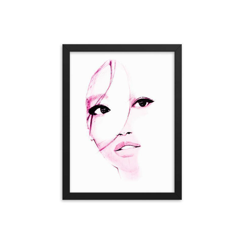 Purple Shadow On Her Face Framed Art Print - Artouchmedia