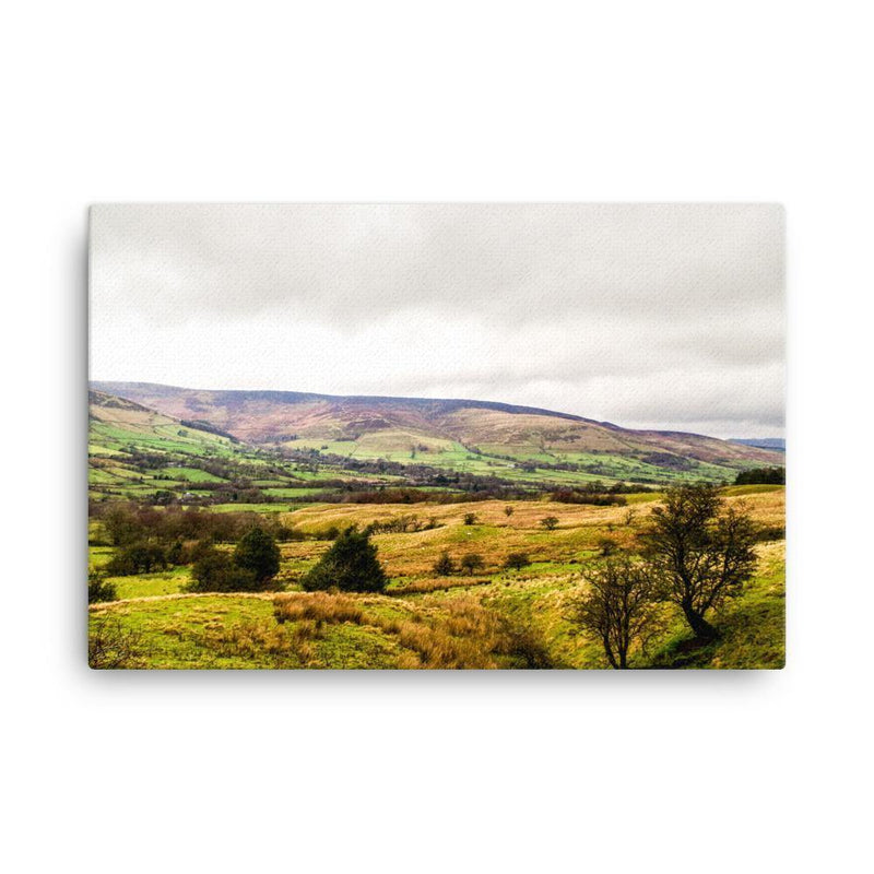 Lands Getting Foggy Canvas Art Print - Artouchmedia