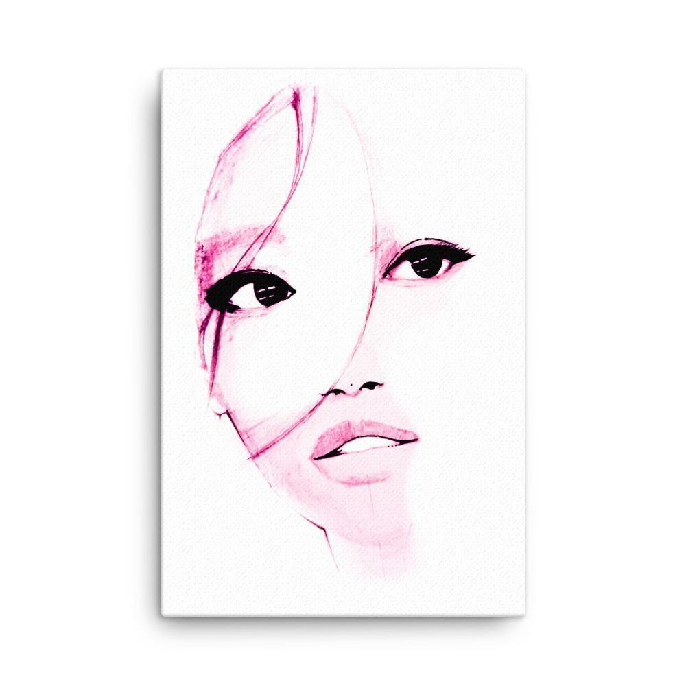 Purple Shadow On Her Face Canvas Art Print - Artouchmedia