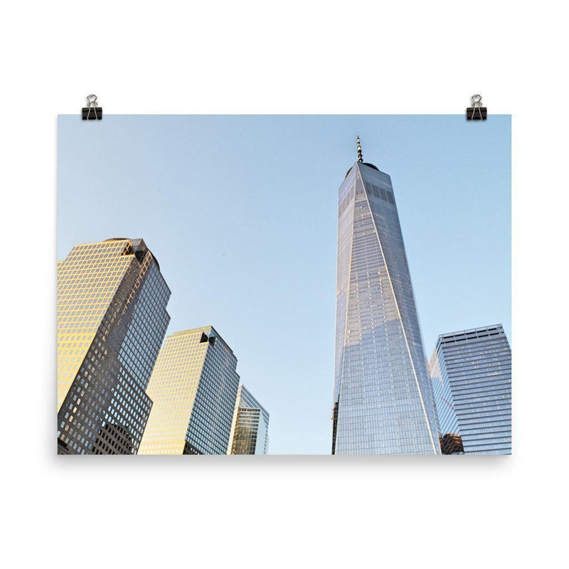 Blue Sky And World Trade Centre Poster - Artouchmedia