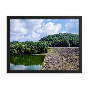 Forest Between Earth Lake And Sky Framed Art Print