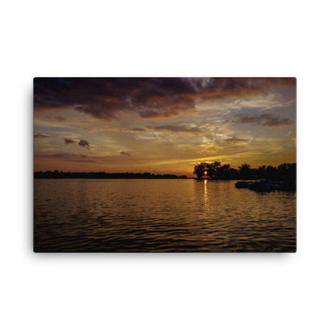 Sunset To The End Canvas Art Print - Artouchmedia