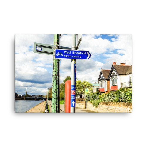 Nottingham River Side Canvas Art Print - Artouchmedia