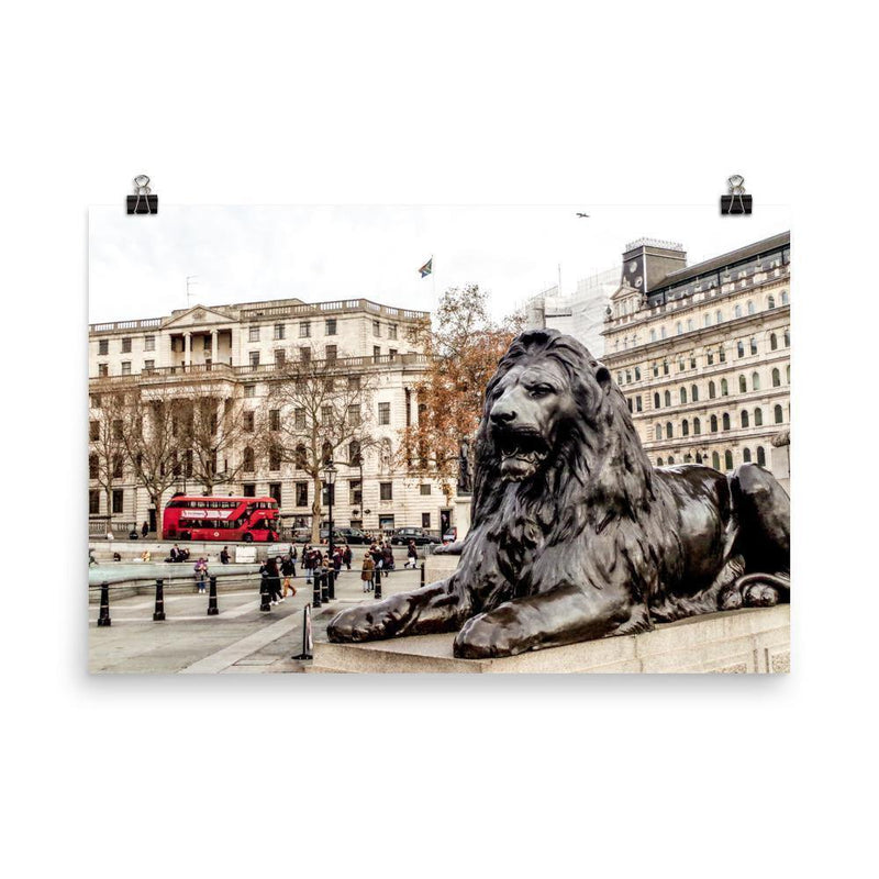 Trafalgar Square King Of Jungle Lustre Art Print - Artouchmedia