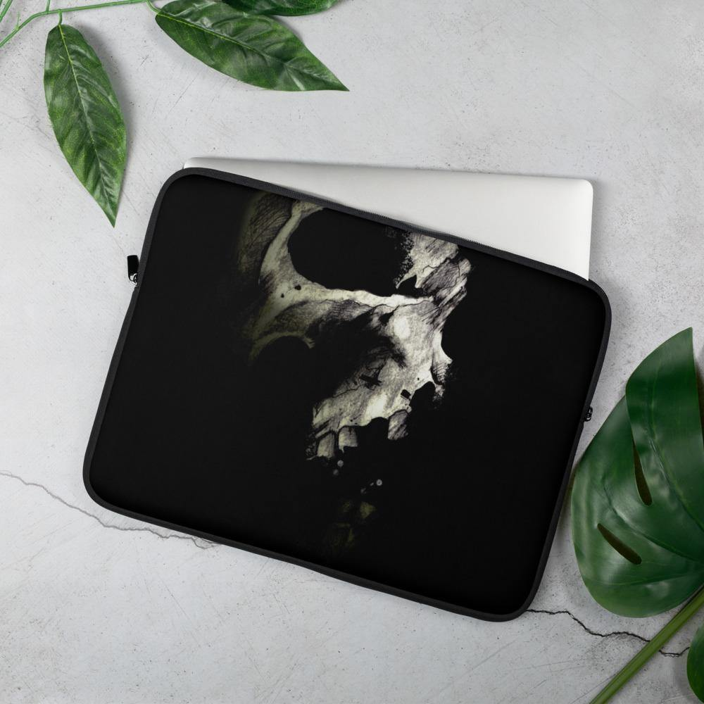 Dark Skull Original Art Print Laptop Case - Artouchmedia
