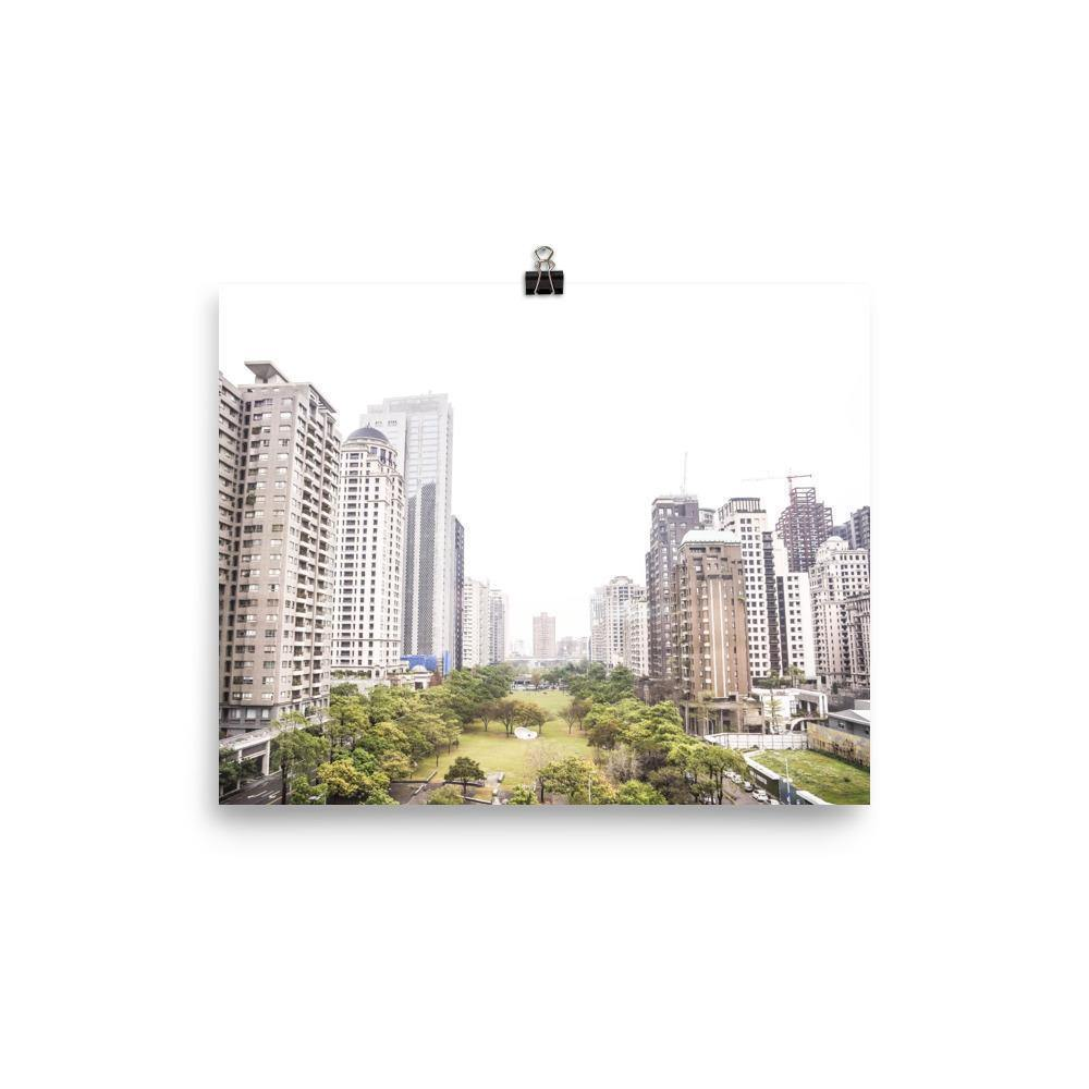 Taichung Cityscape Taiwan Luster Art Print - Artouchmedia