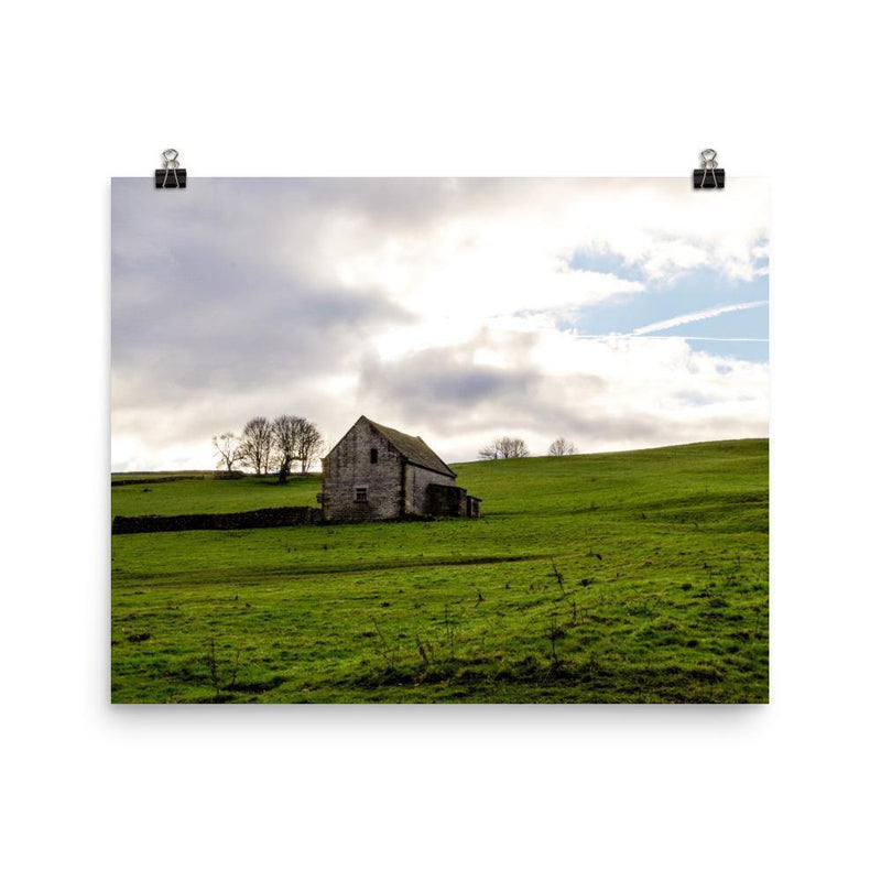 Little House Between Two Lands Luster Art Print - Artouchmedia